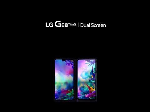 """LG Double écran G8X (128Go, Noir, 6.40"""", Double SIM hybride, 12Mpx, 4G)"""