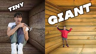 Tiny vs GIANT Unbreakable Boxes!! *TRAPPED INSIDE CHALLENGE*