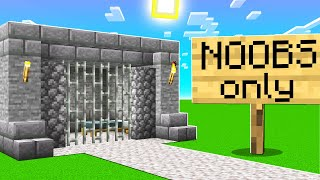 We Built A NOOBS ONLY JAIL In Minecraft!(SMP pt.5)