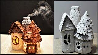 DIY Fairy House With Smoking Chimney