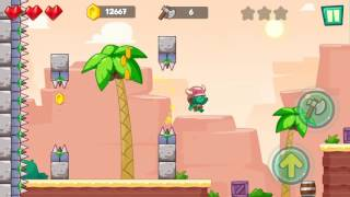 Jungle Adventures: Super World - Sahara Level 14... Gameplay (Free Game On Android)