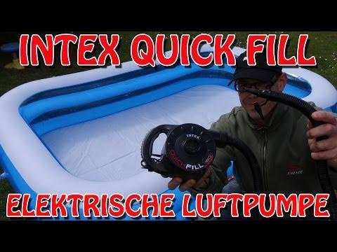 """""""ELEKTRISCHE LUFTPUMPE QUICK FILL VON INTEX"""" -Boote aufpumpen in 4 Minuten"""