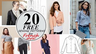 20  CLASSIC And FREE Sewing Patterns For Sewing A French Style Wardrobe