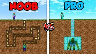 Minecraft NOOB vs. PRO: ZOMBIE MAZE in Minecraft!