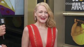 Patricia Clarkson Red Carpet Interview - Golden Globes 2019