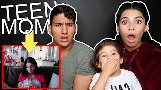 REACTING TO FIRST VLOG EVER AS TEEN PARENTS (unseen footage)