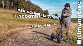 Der STÄRKSTE ELEKTRO SCOOTER DEUTSCHLANDS 100 km h Monster Wolf im Schafspelz / MittmannLive