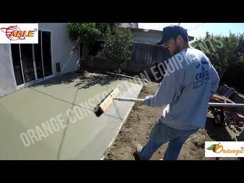 Orange Texture Brush (Comb)Concrete Float