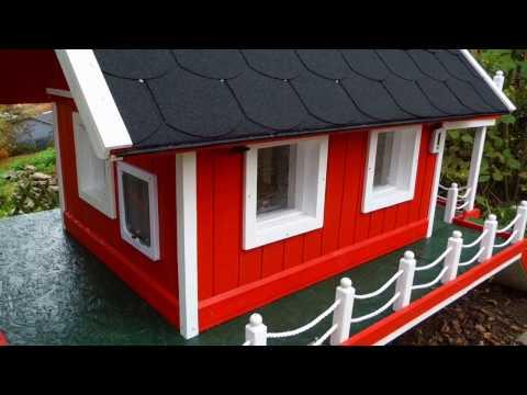 Winter Katzenhaus im Schweden Design, ° Der Felix bekommt ein Haus ° Teil 1.