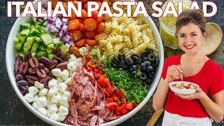 How To Make Italian PASTA SALAD With Homemade ITALIAN DRESSING