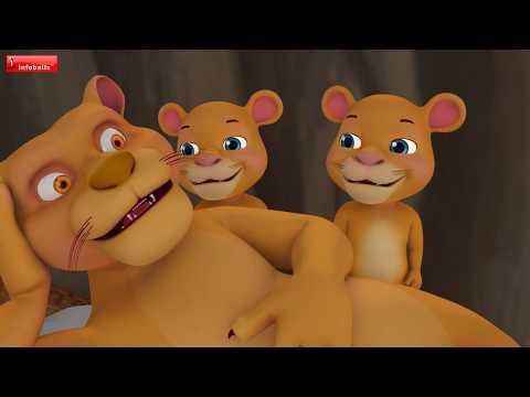 The Lion and the Fox Cub Hindi Kahaniya | Hindi Stories for Children | Infobells