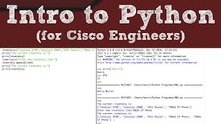 Introduction to Python for Cisco Networking Professionals