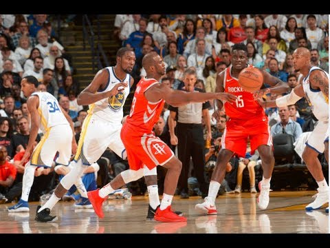 Best of Warriors vs Rockets on Opening Night   Late 4th Quarter