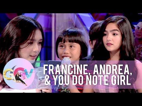 You Do Note girl exchanges lines with Andrea and Francine   GGV