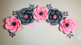 Room Decor Ideas Nursery Paper Flowers || DIY Paper Flower Wall Decoration Ideas