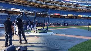 Yankees' Gleyber Torres takes batting practice