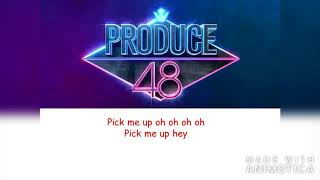 PRODUCE 48 -  PICK ME Nekkoya Lyrics [Korean & Japanese]