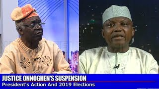 [FULL VIDEO] Femi Falana, Garba Shehu Speak On Justice Onnoghen's Suspension |Sunday Politics|