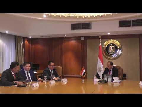 إجتماع الوزير / عمرو نصار مع سفير كازاخستان بالقاهرة