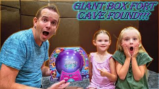 Giant Box Fort Cave Found in Our new House! Abandoned Littlest Pet Shop Lucky Pets Found!!!