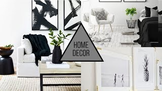 Home Decorating Trends - Black & White Decor