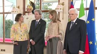 #G7Taormina, cena dei leader con il Presidente della Repubblica Sergio Mattarella (26/05/2017)