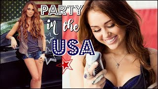 Miley Cyrus Inspired Party In The USA Makeup & Curly Hair Tutorial  | GRWM