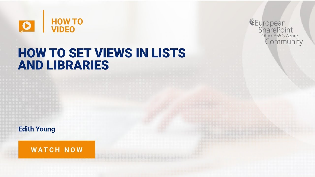 How To Set Views in Lists and Libraries in SharePoint
