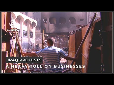 Iraq businesses hurt by protests