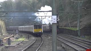 preview picture of video '70000 'Britannia' powering through Brentwood on 1Z82, racing a 315! (15/3/14)'