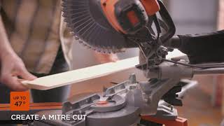 BLACK+DECKER 254MM SLIDE MITRE SAW