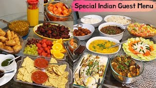 Special Indian Dinner Menu For Guest   Indian Dinner/Lunch Ideas   Starter To Dessert Party Menu