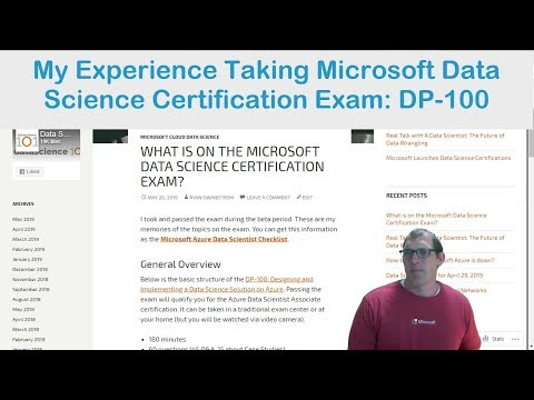 What is on Microsoft Data Science DP-100 Certification Exam ...