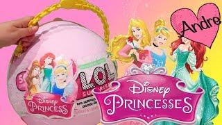Princesas Disney LOL Big Surprise | Muñecas y juguetes con Andre para niñas y niños