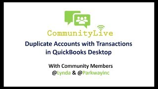 How to Remove Duplicate Accounts with Transactions in QuickBooks Desktop