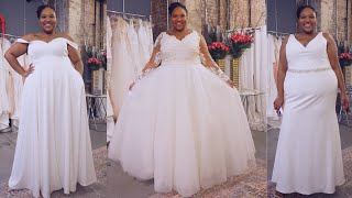 PLUS SIZE WEDDING DRESSES Try On| Ella & Oak | #Dressingroom