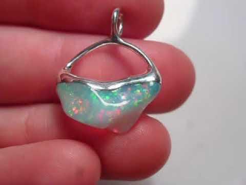 Elfenschmiede Anhänger Opal in Silber