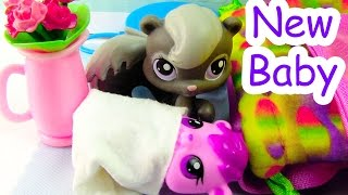 New Baby - Mommies Part 24 Littlest Pet Shop Series Movie LPS Mom Babies