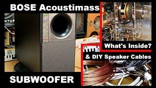 Bose Acoustimass SE5 Subwoofer Bass Reflex Woofer Speaker & How to make DIY Speaker Cables