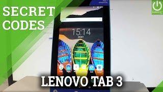 Secret Codes LENOVO Tab3 7 Essential - Test Menu / Hidden Mode