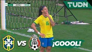 ¡Gol de Brasil que destroza a México! | Brasil 4 - 0 México | Amistoso Femenil Internacional  | TUDN