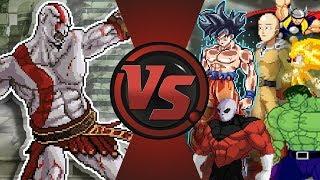 KRATOS vs GOKU, SAITAMA, JIREN, HULK, THOR, SONIC, & MORE! God of War Animation