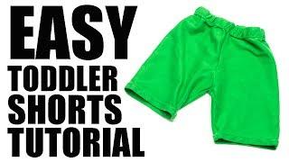 Easy Toddler Shorts Tutorial (Free Pattern)