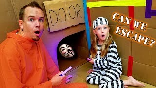 24 Hour Box Fort Prison Escape!!! Game Master Locked Us Up!