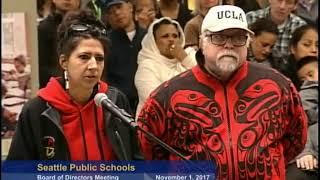 Seattle School Board Meeting November 1, 2017 Part 1