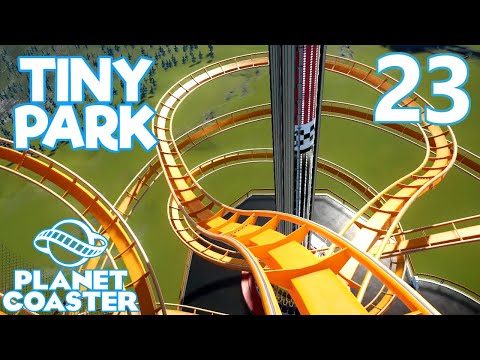Planet Coaster TINY PARK - Part 23 - LONGEST NOODLE