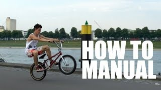 Как делать Мэнуал на BMX - How to Manual on a BMX / MTB |  Школа BMX Online #3 Дима Гордей