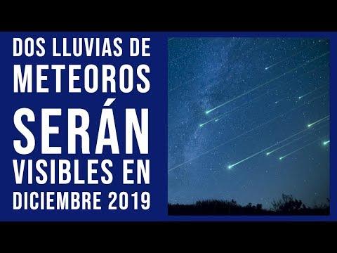 Dos lluvias de meteoros serán visibles en Diciembre 2019