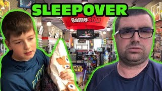 Kid Temper Tantrum's Sleepover At GAMESTOP Without His Parents Even Knowing