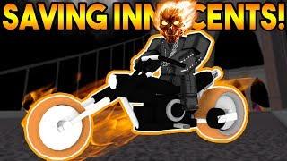SAVING INNOCENTS AS GHOST RIDER! | ROBLOX: Super Power Training Simulator
